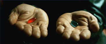 Red Pill or Blue Pill series: how deep does the rabbit hole go?