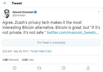 Edward snowden about Zcash