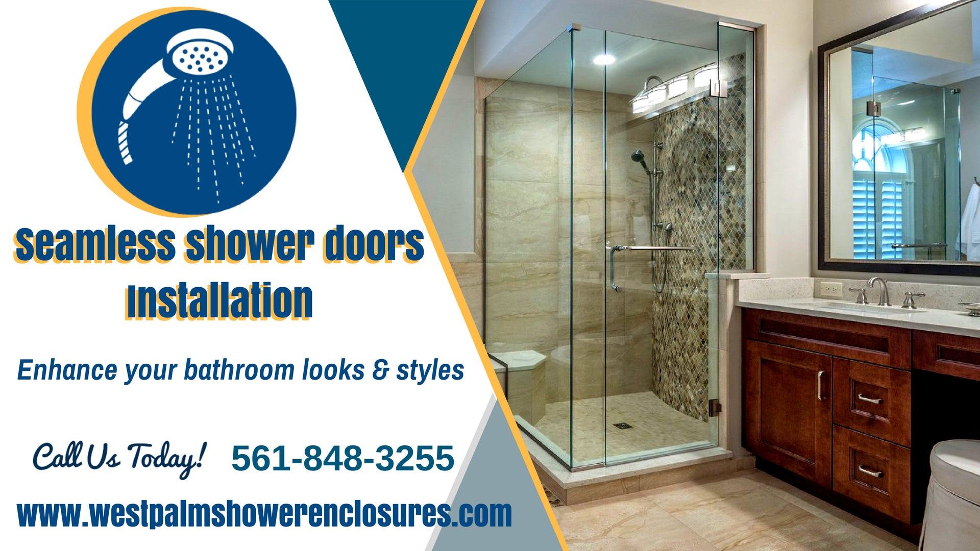 Seamless Shower Doors Installation Service West Palm