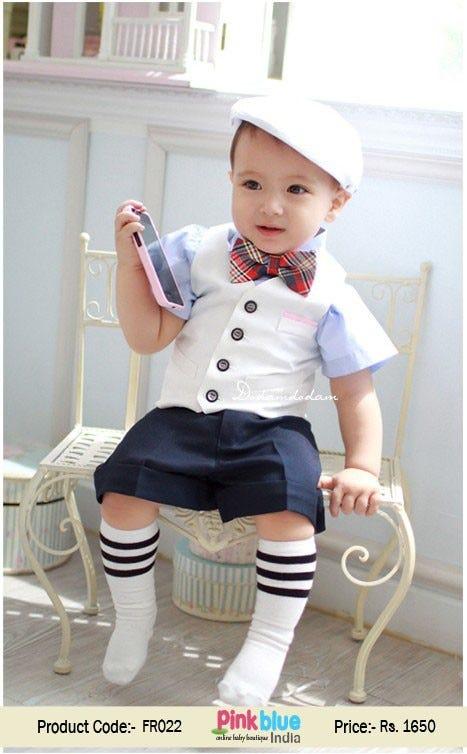 Baby Boy First Birthday Dress 0798cc
