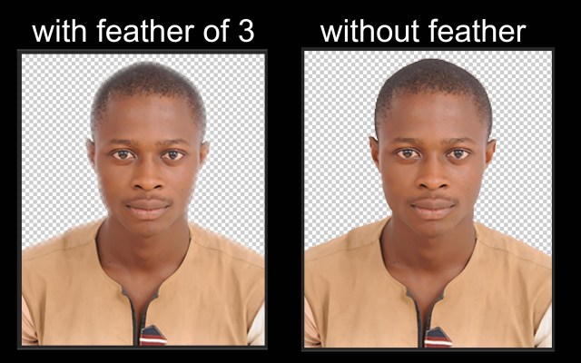 with and without feather
