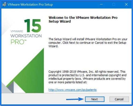 Install VMware Workstation