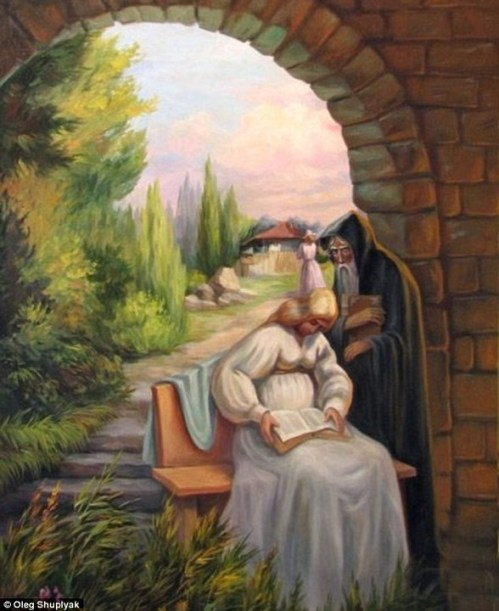 Charles Darwin by Oleg Shuplyak. This painting depicts a scene in which… |  by Hailey Hoffman | Medium