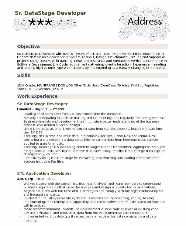 Datastage Developer Resume Samples By Sandhya Reddy Medium