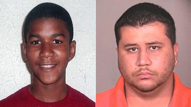 Innocent Trayvon Martin (Left) and his killer George Zimmerman