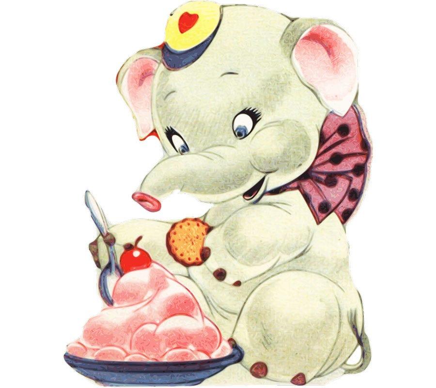 A vintage elephant Valentine.