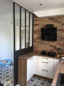 la miroiterie yerroise - essonne -91 verriere interieure design - separation cuisine 5