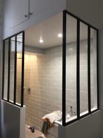 verriere style atelier pour salle de bain - Miroiterie Yerroise