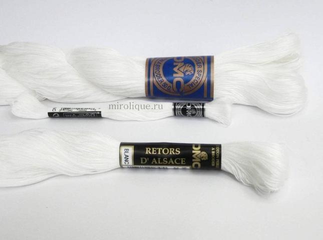 нитки и мулине DMC которыми вышивают ретичелло