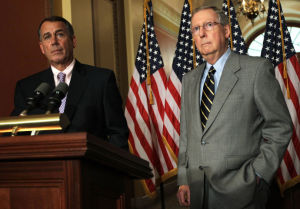 House Majority leader John Boehner (left) and soon-to-be Senate Majority leader Mitch McConnell (right) (photo courtesy of Peter Stevens via Flickr Creative Commons)