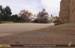 ISIS' destruction of the Mar Benham monastery.
