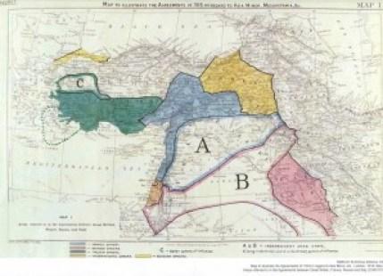 Sykes-Picot map