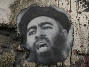 A painting of Abu Bakr al-Baghdadi.