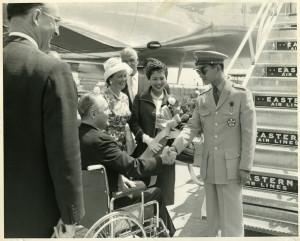 King Bhumibol and Queen Sirikit with John F. Collins, mayor of Boston, Massachusetts