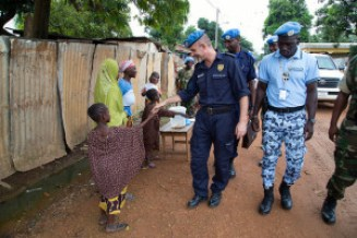 MINUSCA Police Commissioner in Bangui in the Central African Republic.