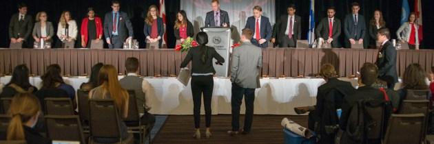 Preaching Unity at McMUN 2017's Closing Ceremonies
