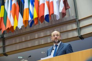 Martin Schulz presiding over the European Parliament. https://flic.kr/p/q31ZPW