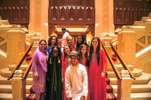 NSLIY and Boren Students studying Arabic pose at the Royal Opera House in Oman https://flic.kr/p/qiEMvk