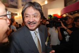 """Former Financial Secretary John Tsang Chun-wah, otherwise known as the """"people's choice"""", currently faces the challenge of gaining Beijing's approval. https://flic.kr/p/4g6Xec"""