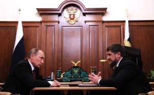 Russian President Vladimir Putin and Chechen leader Ramzan Kadyrov. http://bit.ly/2r7EBYx