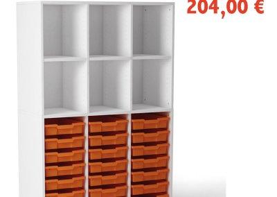 VICTORY 6 espacios y 21 cubetas – H 160cm