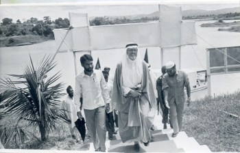 Mir Quasem Ali at the inauguration of Hospital at Chittagong Hill Tract dedicated to health care for the tribal population- Abdullah Omar Nasseef (Arabic: عبدالله عمر نصيف) the then Secretary General of World Muslim League was the Chief Guest