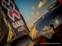 Austin, TX - June 4, 2015 - Downtown: Harley Davidson MotorCycle in Harley Davidson Flat-Track Racing Final during X Games Austin 2015. (Photo by Nick Guise-Smith / ESPN Images)