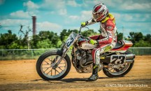 Austin, TX - June 4, 2015 - Downtown: Doug Lawrence competing in Harley Davidson Flat-Track Racing Seeding Session during X Games Austin 2015. (Photo by Nick Guise-Smith / ESPN Images)