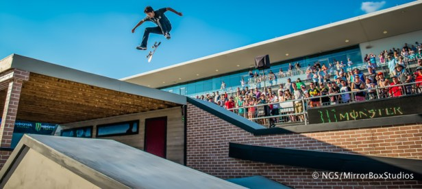Austin, TX - June 6, 2015 - Circuit of The Americas: Enzo Cautela competing in Skateboard Street Amateurs Final during X Games Austin 2015. (Photo by XXXXX / ESPN Images)