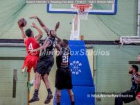 England Basketball, NBL Division 1 - 11 February, 2017 - Fleming Park Leisure Cent. : Marquis Mathis defending against Craig Ponder (4) during match between Solent Kestrels and Reading Rockets (Photo by NGS/MirrorBoxStudios)