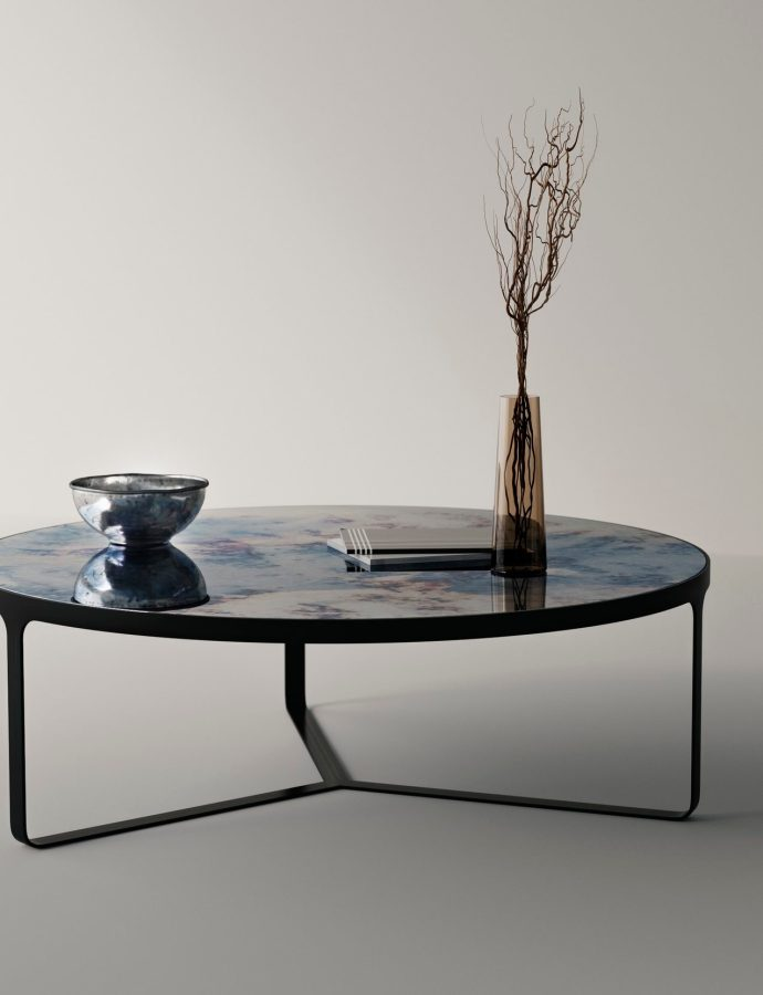 Antiqued Mirror Coffee Table