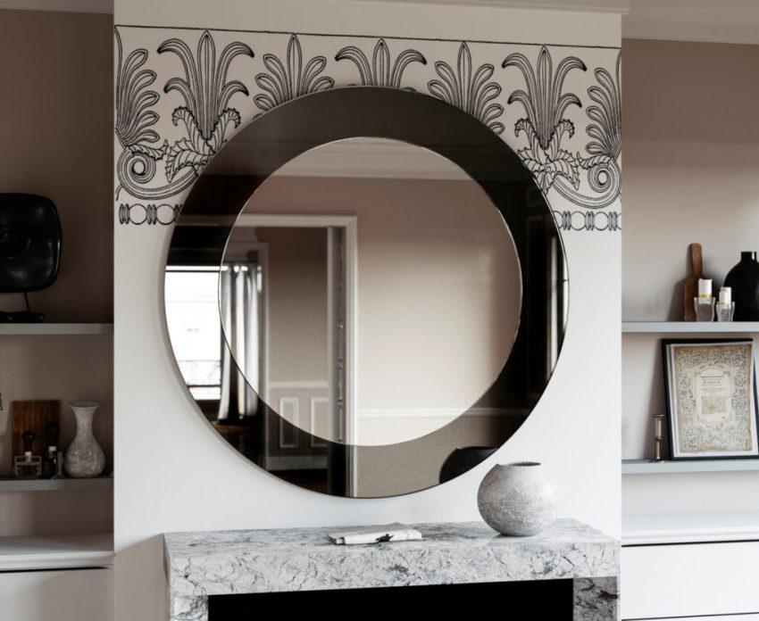 Black Mirror with Art Deco Style