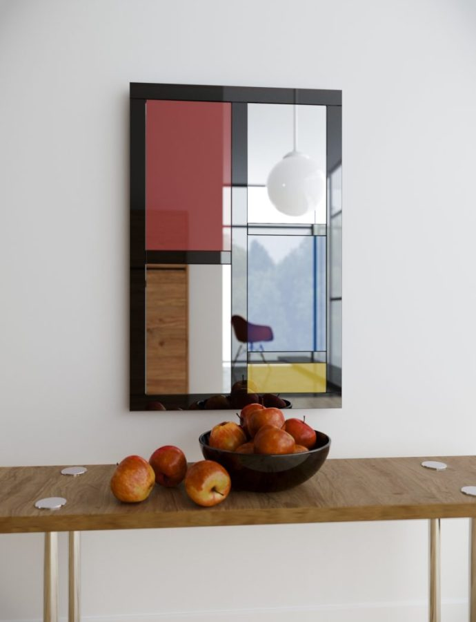Finding & Decorating with Colorful Wall Mirrors