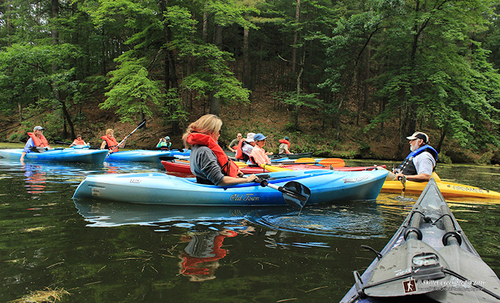 kayak tour at Mirror Lake State Park
