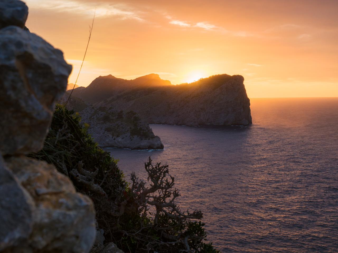 Sonnenuntergang am Cap de Formentor