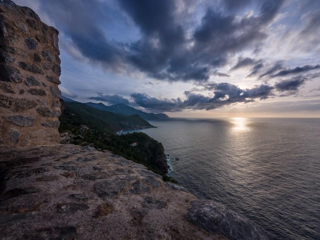 Blick vom Torre des Verger auf Mallorca