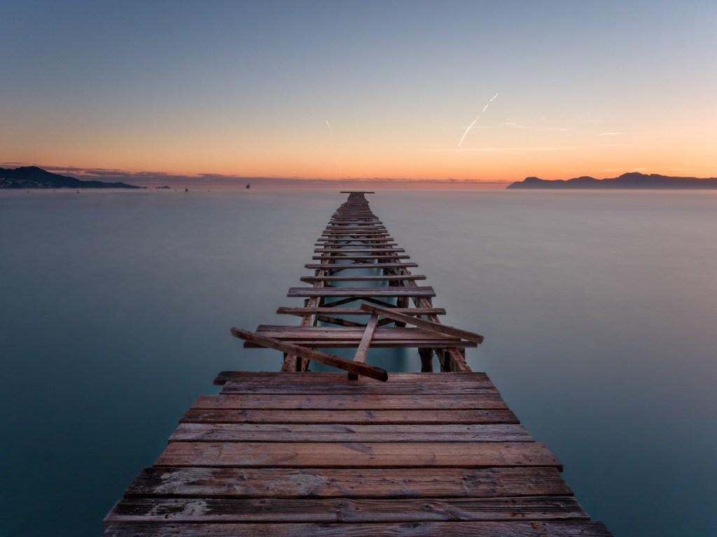 Ein Steg in Alcudia auf Mallorca
