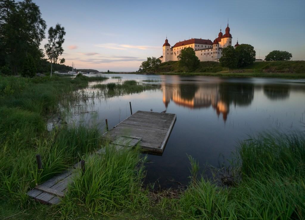 Das Schloss Läckö in Schweden