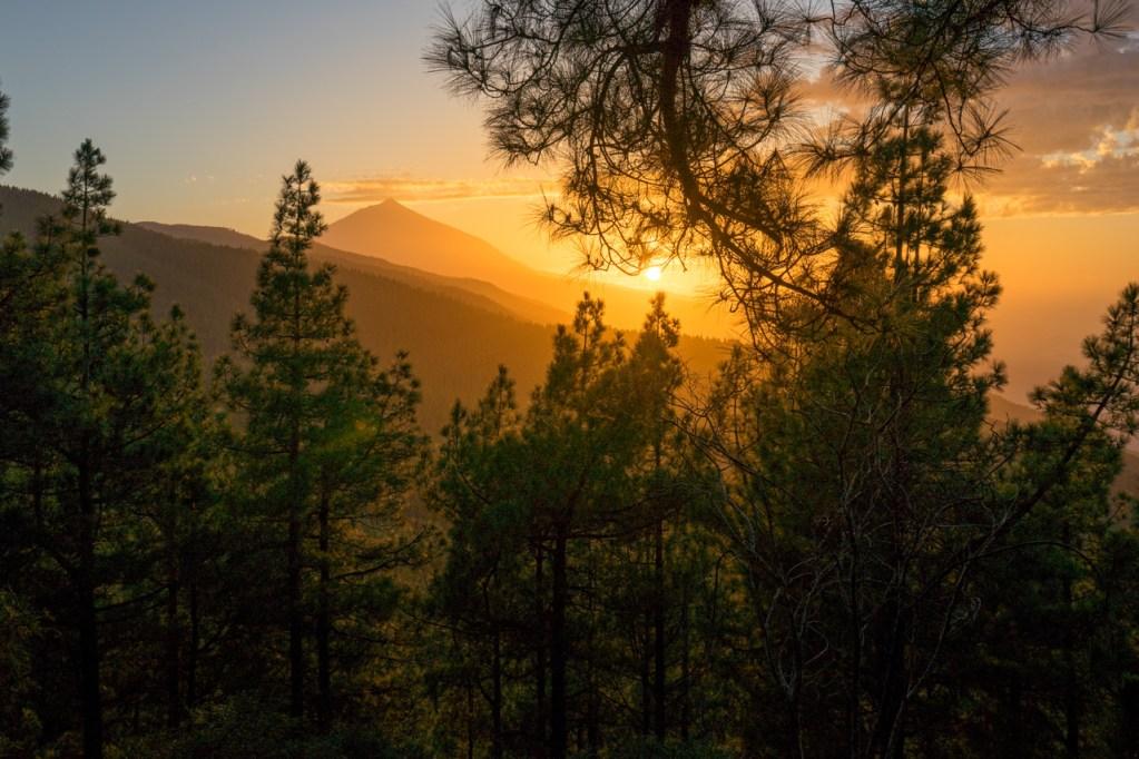 Blick auf den Teide bei Sonnenuntergang