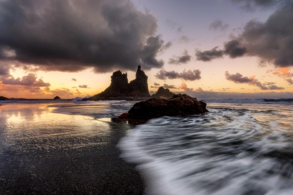 Foto vom Playa de Benijo auf Teneriffa.