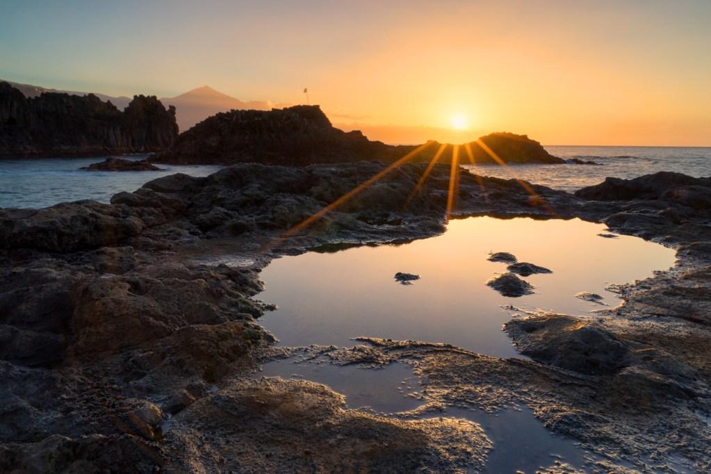 Sonnenuntergang in El Pris auf Teneriffa