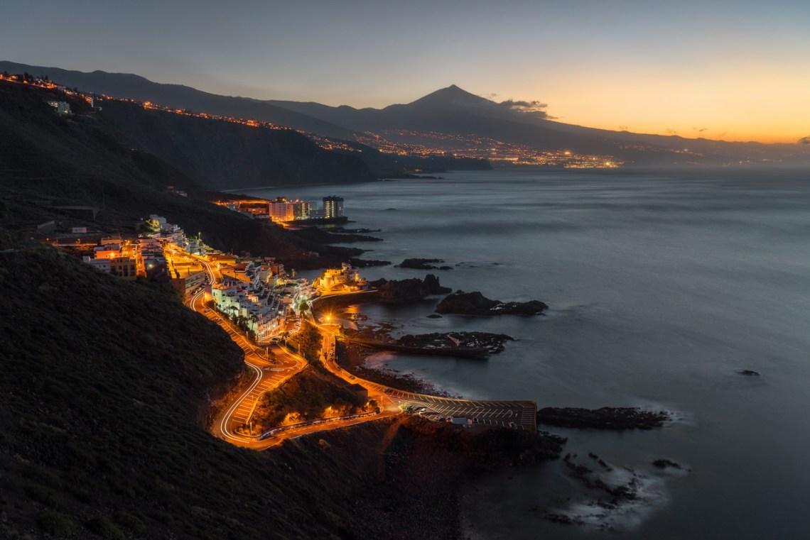 El Pris auf Teneriffa zur blauen Stunde