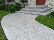 Curb Appeal... FlexStone coated walkways are no-slip and sealed to protect against damage and erosion.