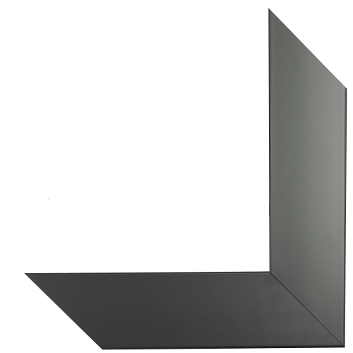 satin black mirror frame