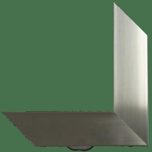 polished chrome mirror frame