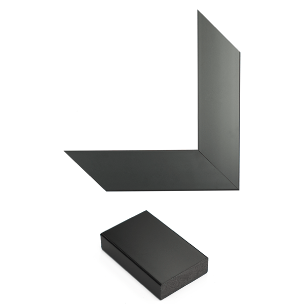 satin black mirror frame samples