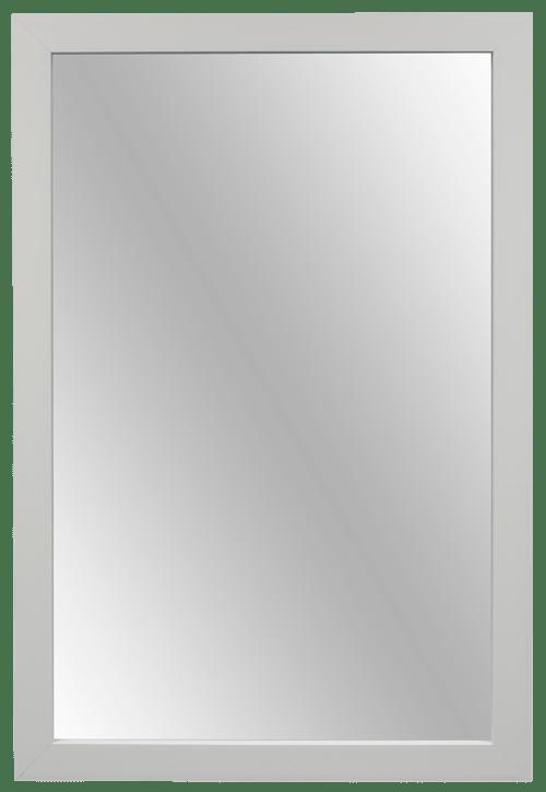 farmhouse diy white mirror frame