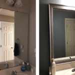 After picture of mirror frame kit