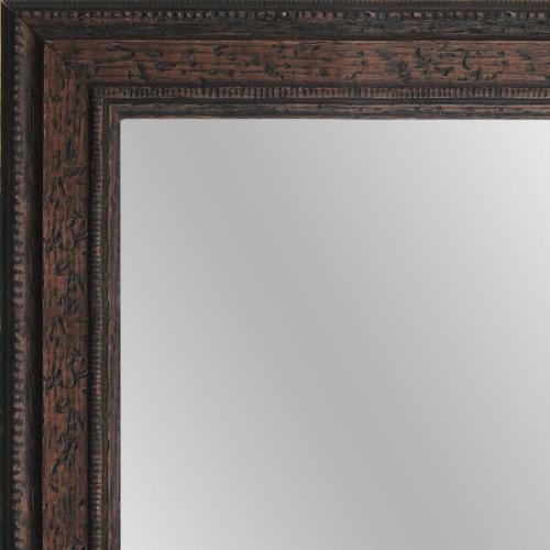 1584 distressed walnut framed mirror