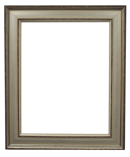 modern silver mirror frame